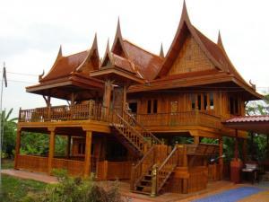 ขายบ้านไม้สักทอง ทรงไทยโบราณ สวยงาม น่าอยู่